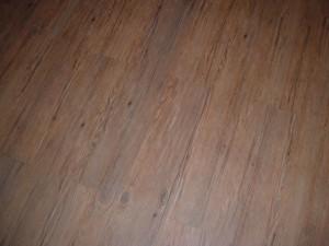 Closeup of the laid floor