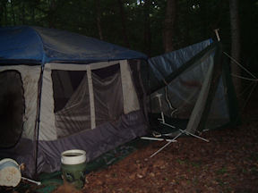 Broken tent